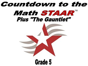 5th Grade Countdown to Math STAAR plus Gauntlet 2018