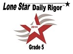 5th Grade Lone Star Daily Rigor 2014